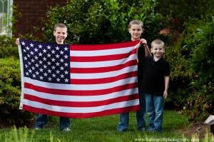 Mebane Photographer Patriotic Family Portraits