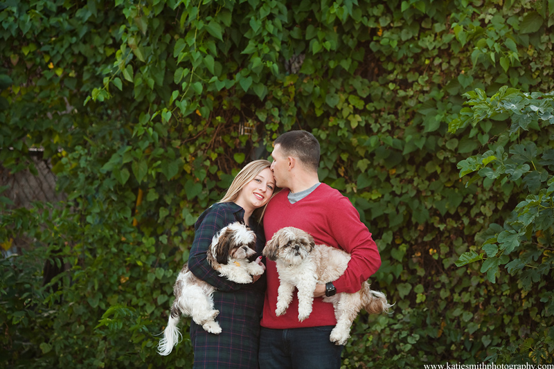 Couple with dogs