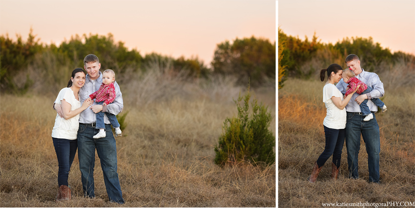 Family Portraits At Sunset
