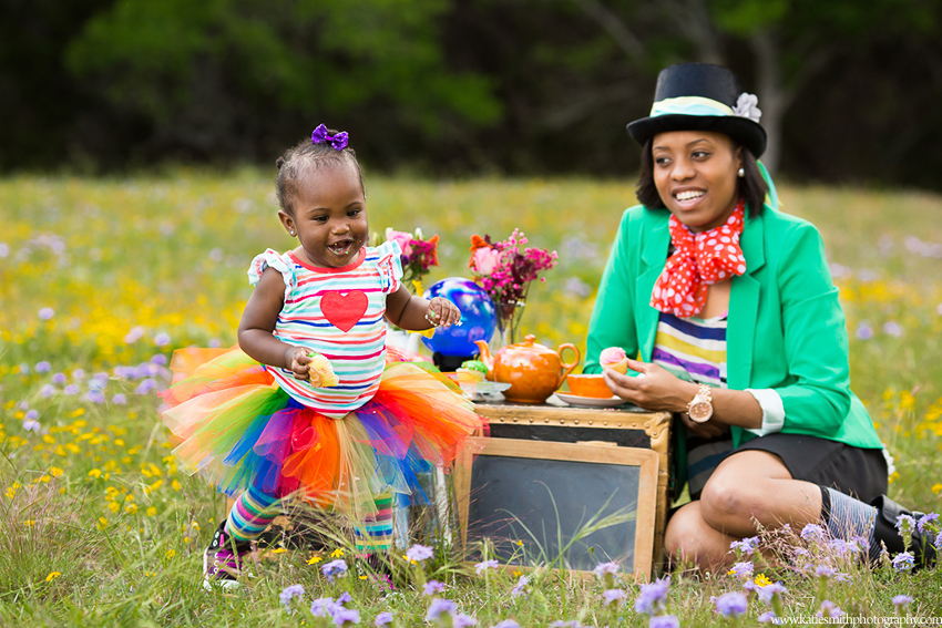 Fun Colorful Family Portraits