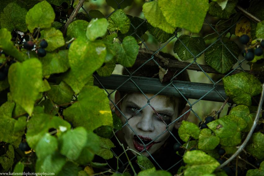 Zombie Fence Pose
