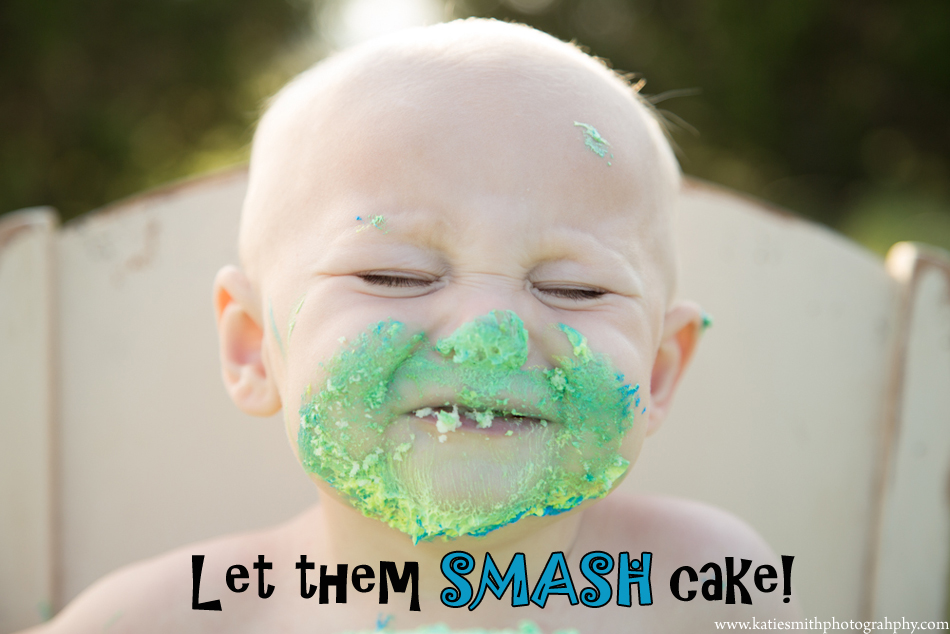 let them smash cake