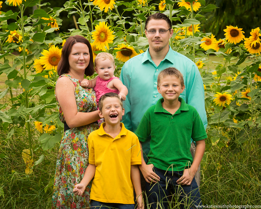 Family Portrait by Chatham County Photographer Katie Smith