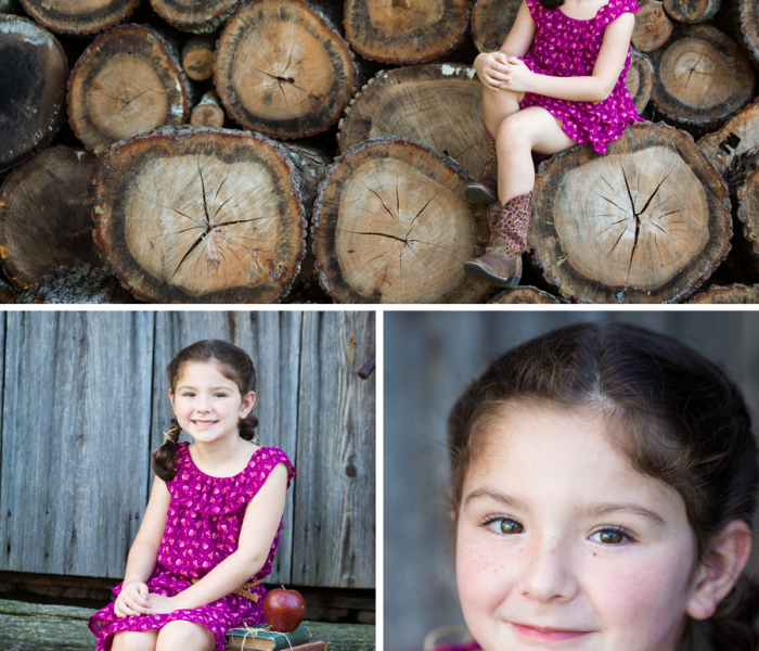 Rustic-Themed Child Portrait