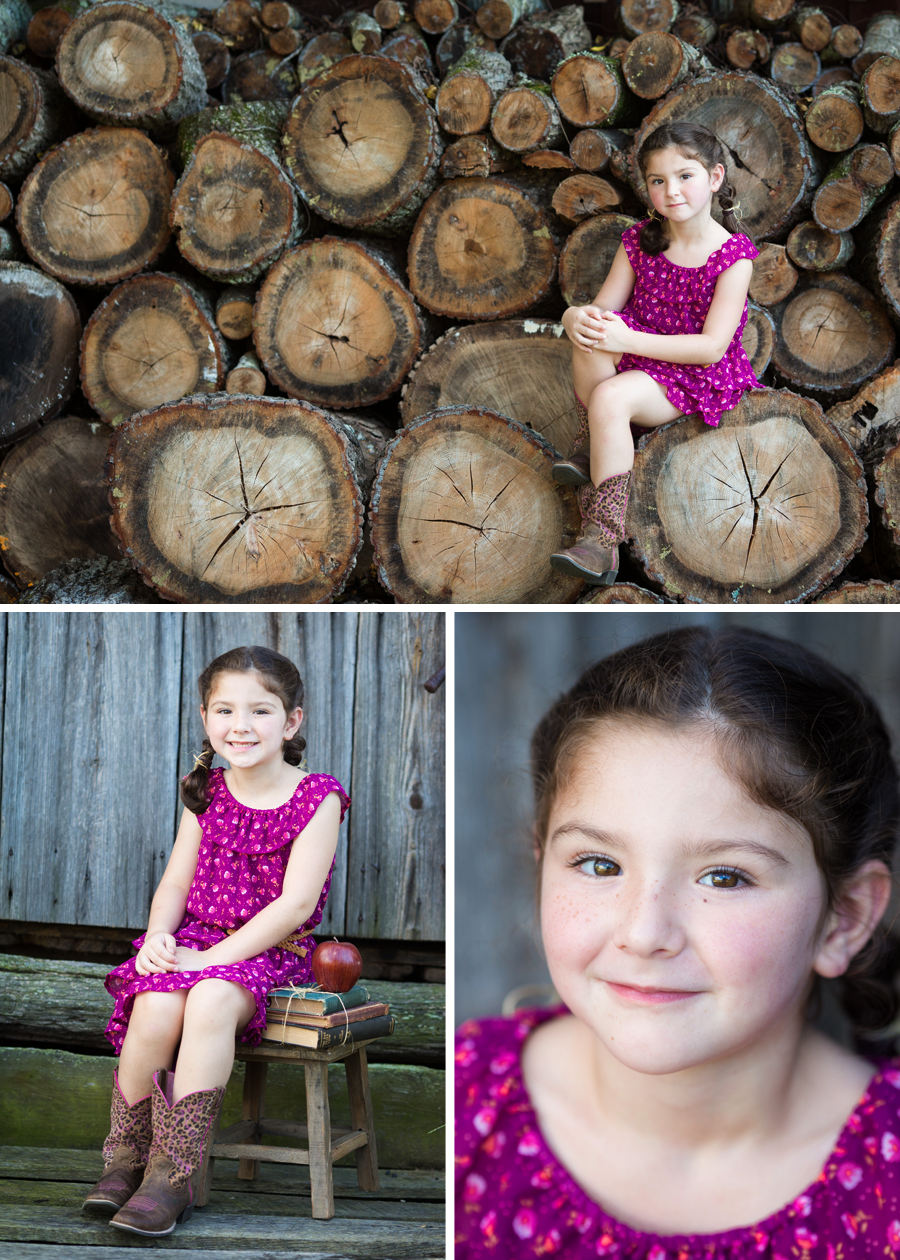 Rustic-Themed Child Portraits