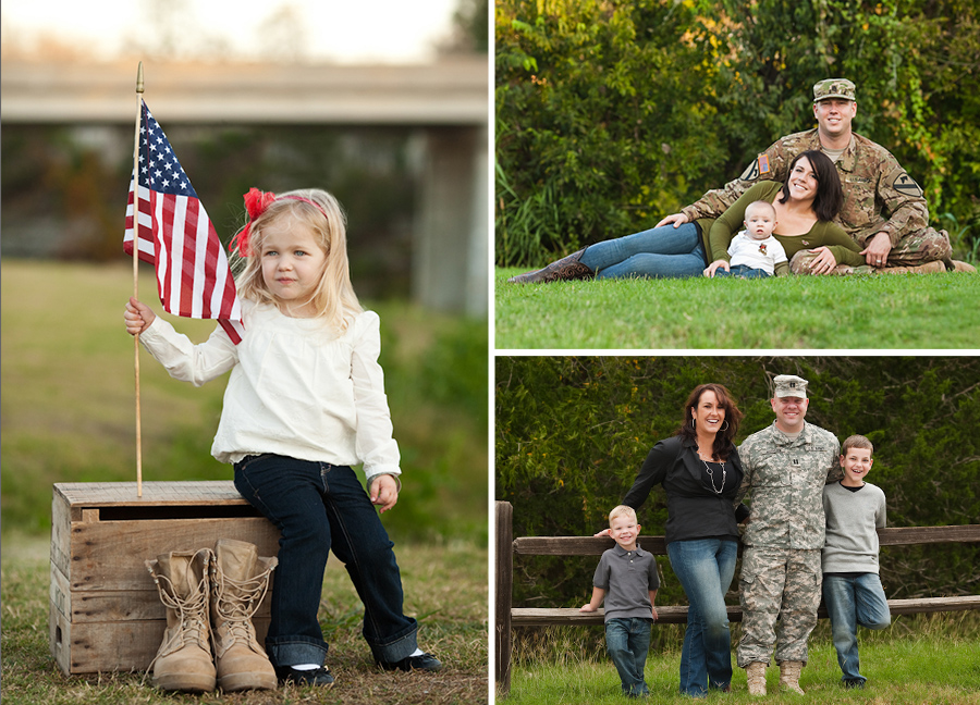 Military Themed Family Portraits in Burlington NC