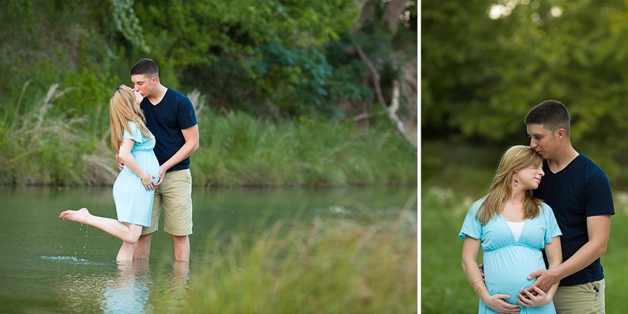 pregnancy photos in a creek
