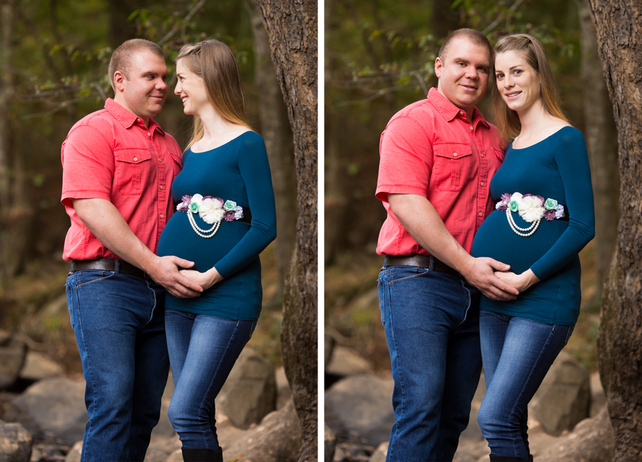 maternity portraits on the eno river