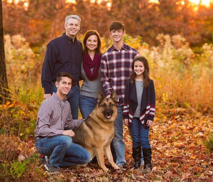 Fall Family Portraits in Mebane NC