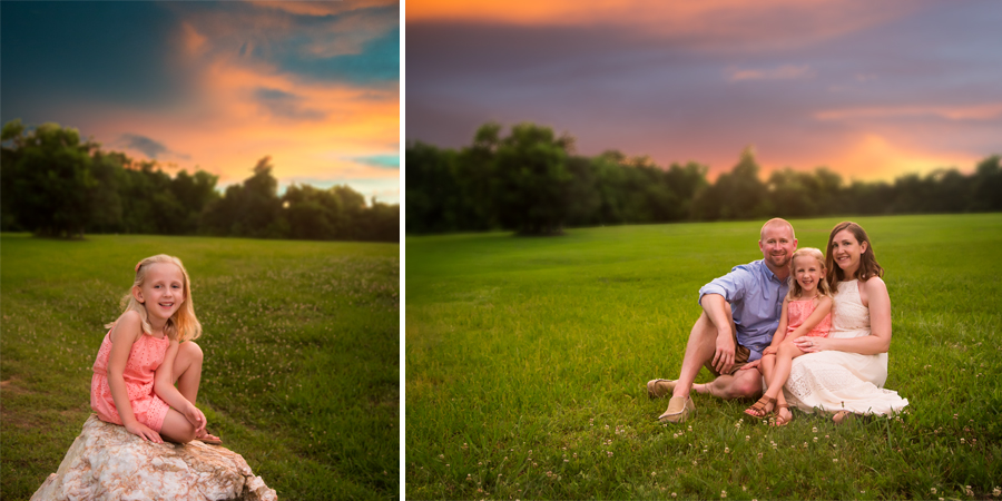 sunset portraits by mebane family photographer