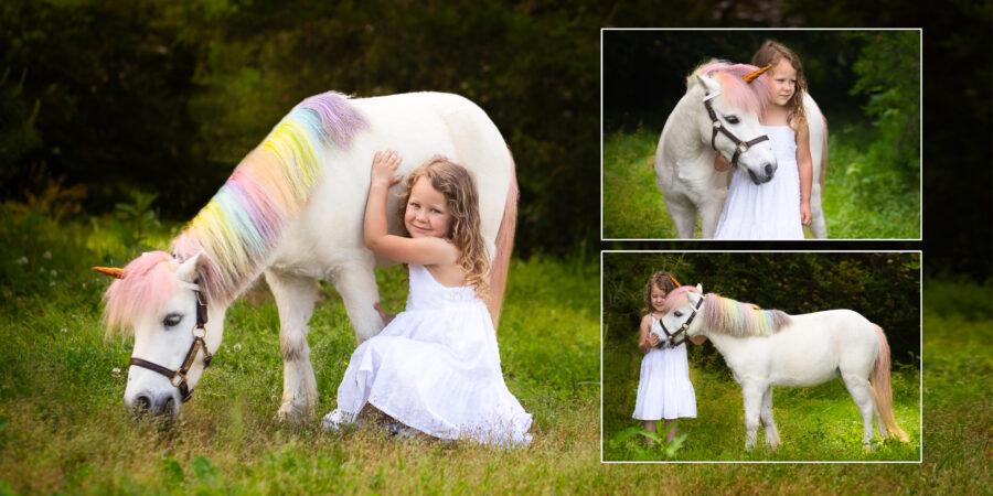 book a unicorn portrait experience