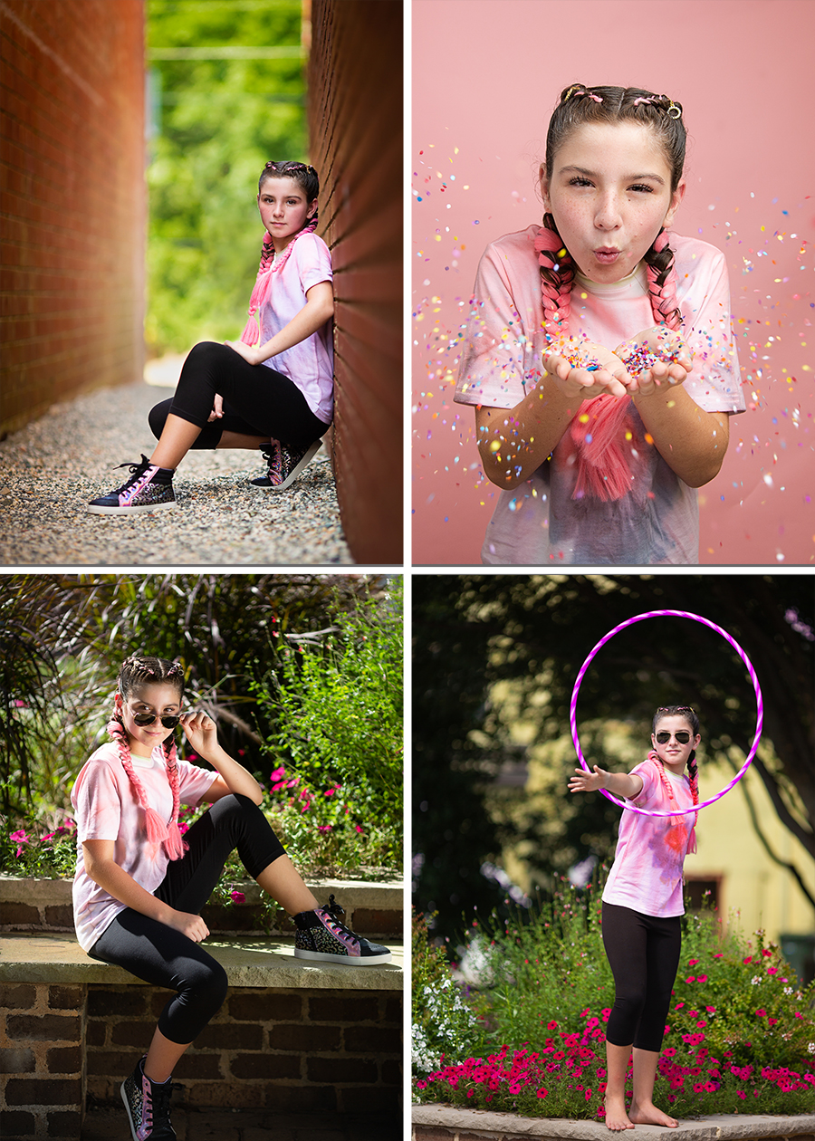 Downtown Mebane Photographer for Girl Tween and Teen Empowerment Sessions